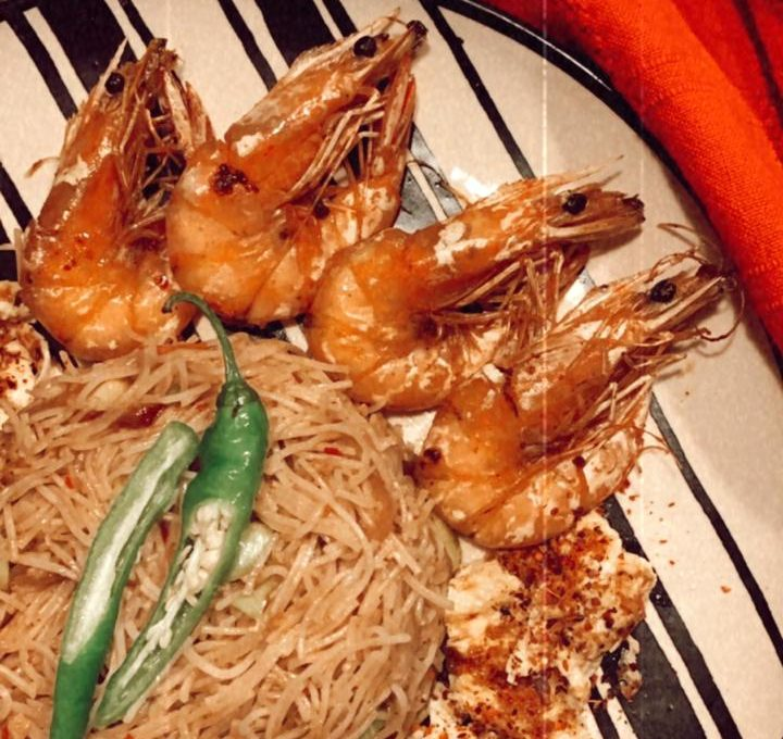 Srilankan Fried Noodles with  Prawn