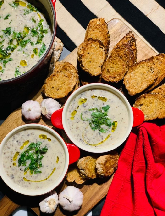 Warm Mushroom Soup