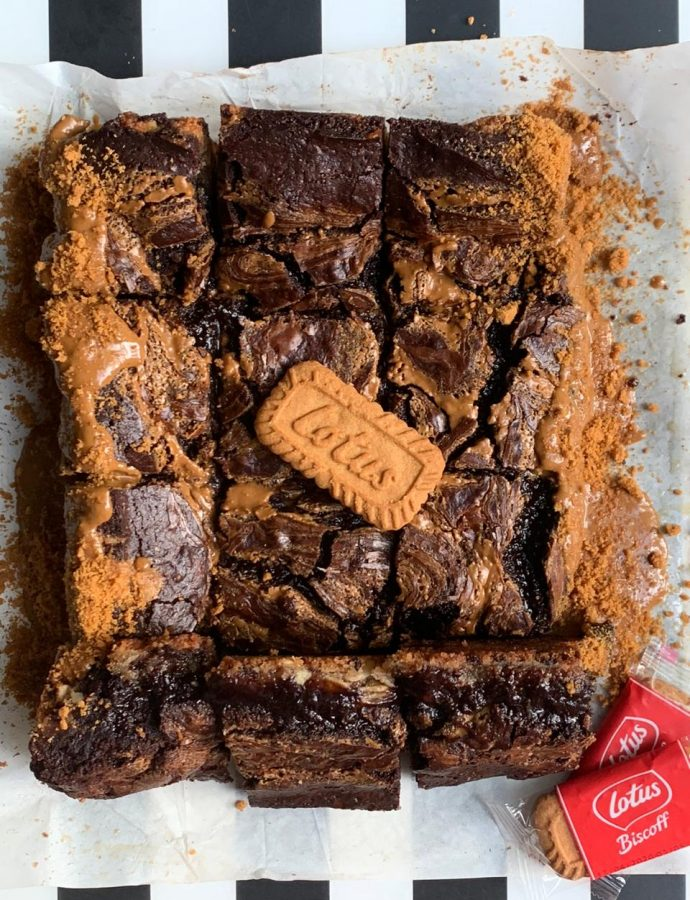 Chocolate Biscoff Brownies