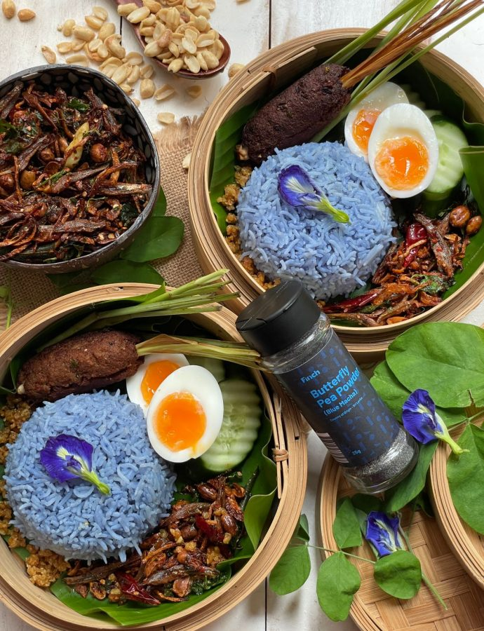 Blue Matcha Rice